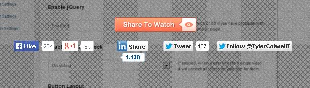 Social Video Locker WordPress Plugin