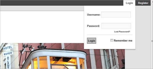 Ajax Login Registration Bar WordPress
