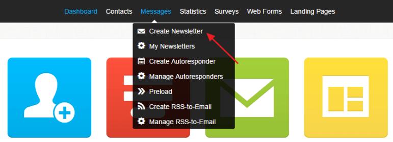 Create Newsletter Getresponse