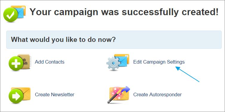 Edit campaign setting