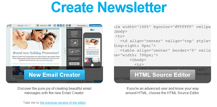 New Email Creator