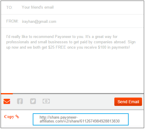 Payoneer Refer a Friend Affiliate Link