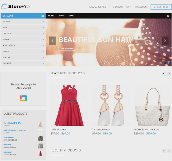StorePro WordPress Theme