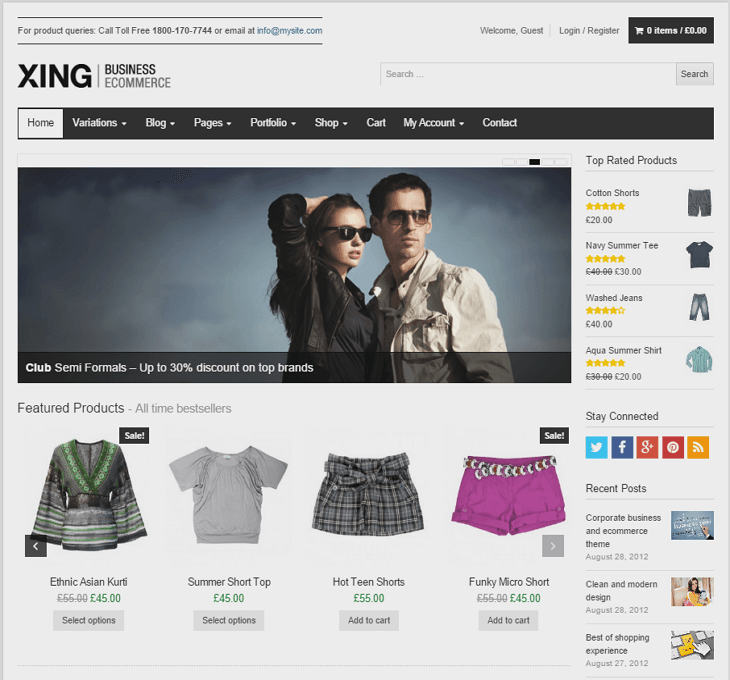 Xing WordPress Theme