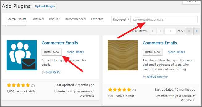 commenter-emails-wordpress-plugin