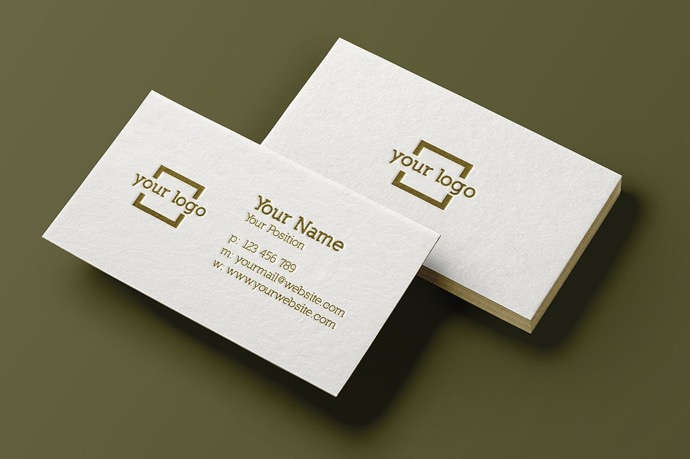 simple u0026 clean business card
