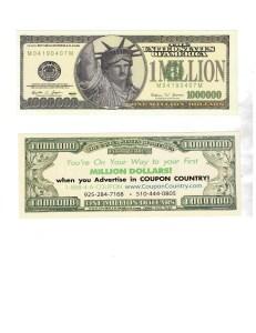Best Business Cards – MILLION DOLLAR BILLS – Business Card Alternative – Great Promotion, Business Promo