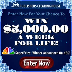 PCH Win 250000 A Year For Life Sweepstakes is sponsored by
