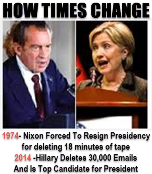 Hillary vs Watergate 2 - How Times Change 700