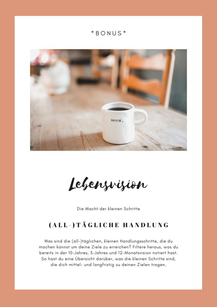 Bonusheft - Lebensvision - Die Macht der kleinen Schritte