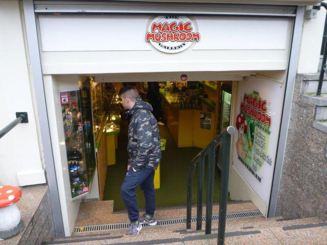 Une boutique de champignons sur Singel