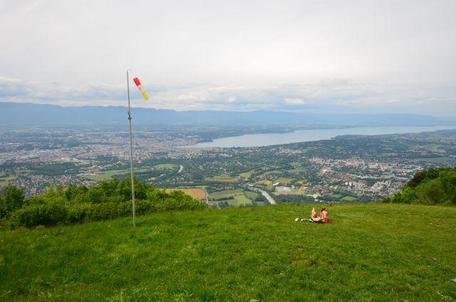 Vue sur Genève depuis l'observatoire de Salève