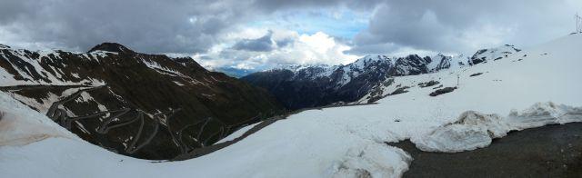 Panorama depuis le col du Stelvio (passo dello Stelvio)