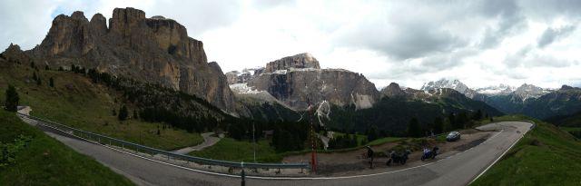 Panorama sur les Dolomites - Passo Sella