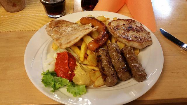 Mix de grillades - Restaurant du camping de Bled