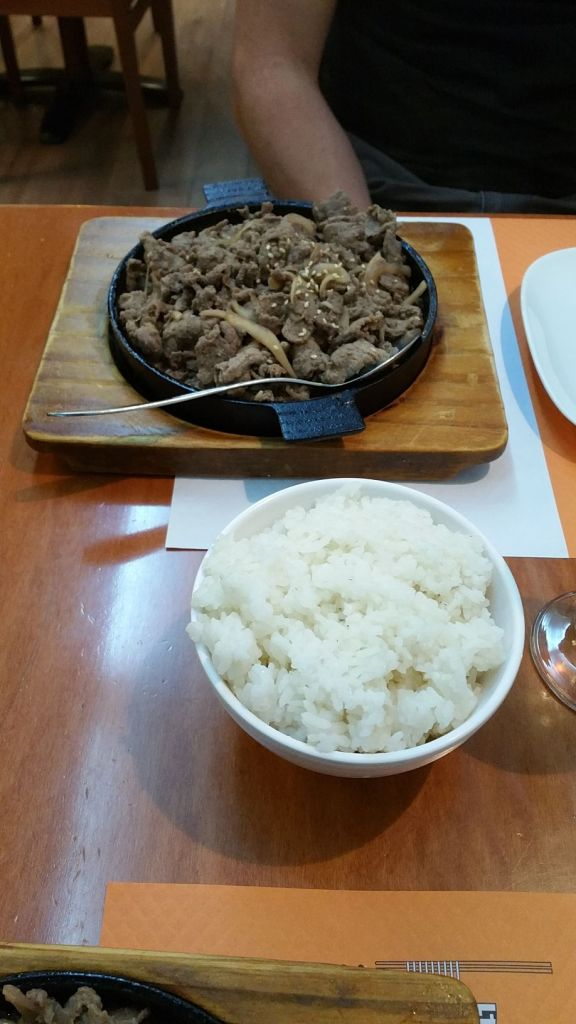 Notre repas au restaurant coréen - Dosirak Restaurant