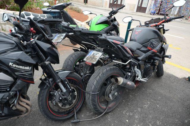 Des motards prêts pour une arsouille