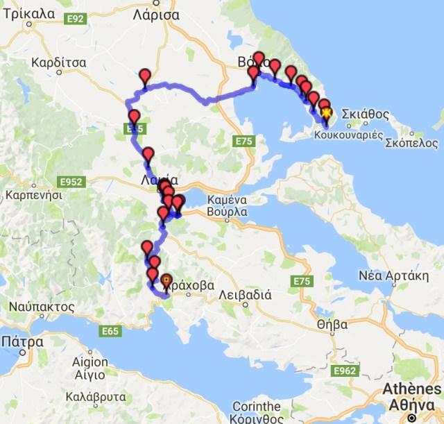 Itinéraire du jour 18 - Kastri – Delphes