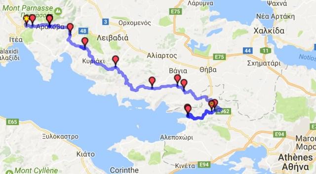 Itinéraire du jour 19 - Delphes – Porto Germeno