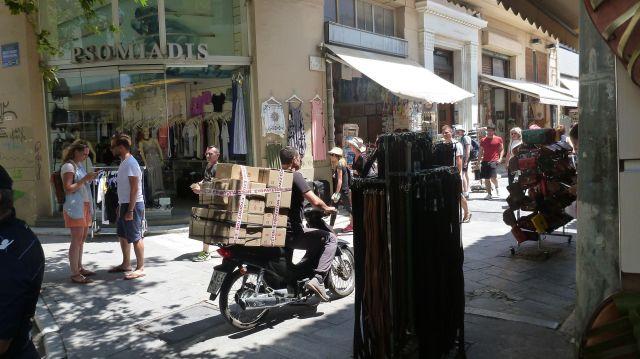 Livreur à Athènes