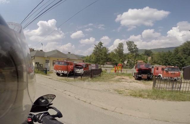 Une caserne de pompiers au Kosovo