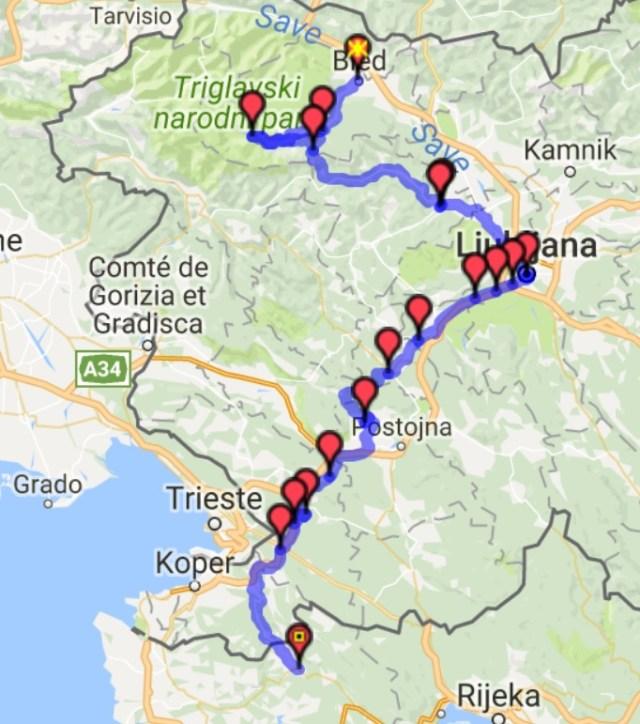 Itinéraire du jour 7 – Bled - Buzet