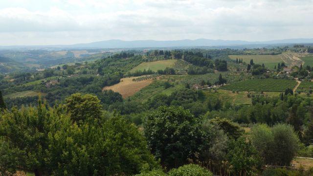 Vue depuis la via Degli Innocenti - San Gimignano