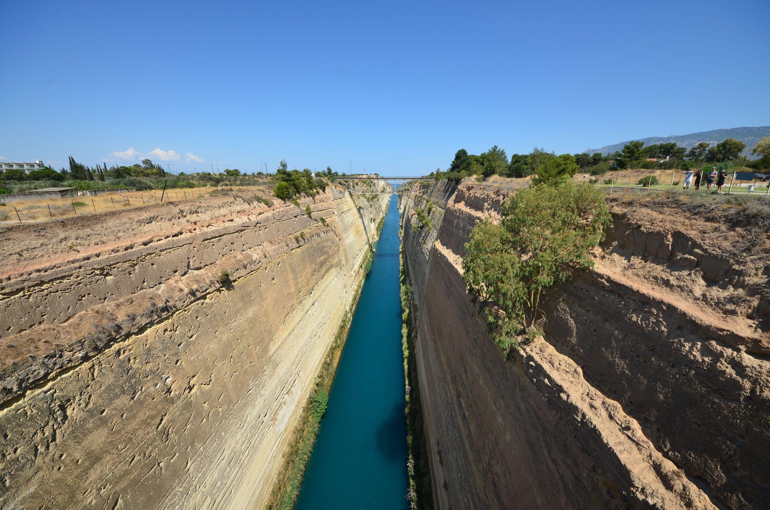 Tour d'Europe, Grèce, canal de corinthe