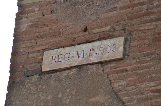 Panneau de ruelle - Pompéi