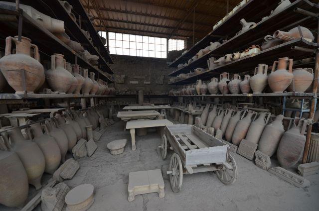 Entrepôts des archéologues - Pompéi