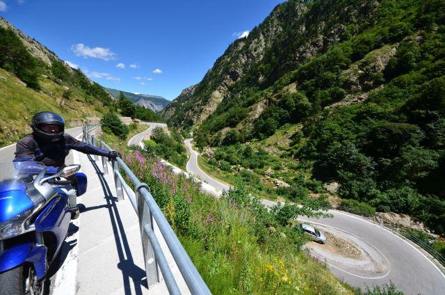 Fred sur la SP255 vers le col de la Lombarde (Italie)