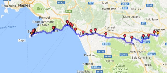 Itinéraire du jour 31 - Potenza - Nerano