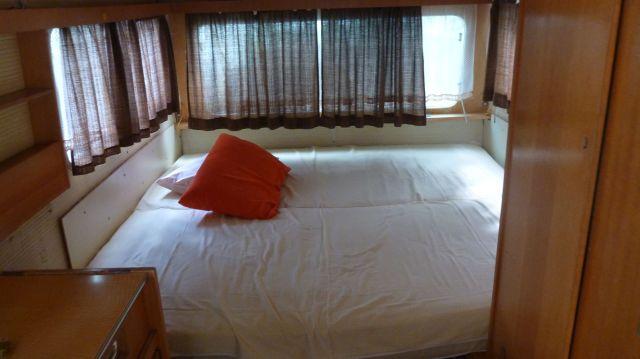 Notre lit au camping