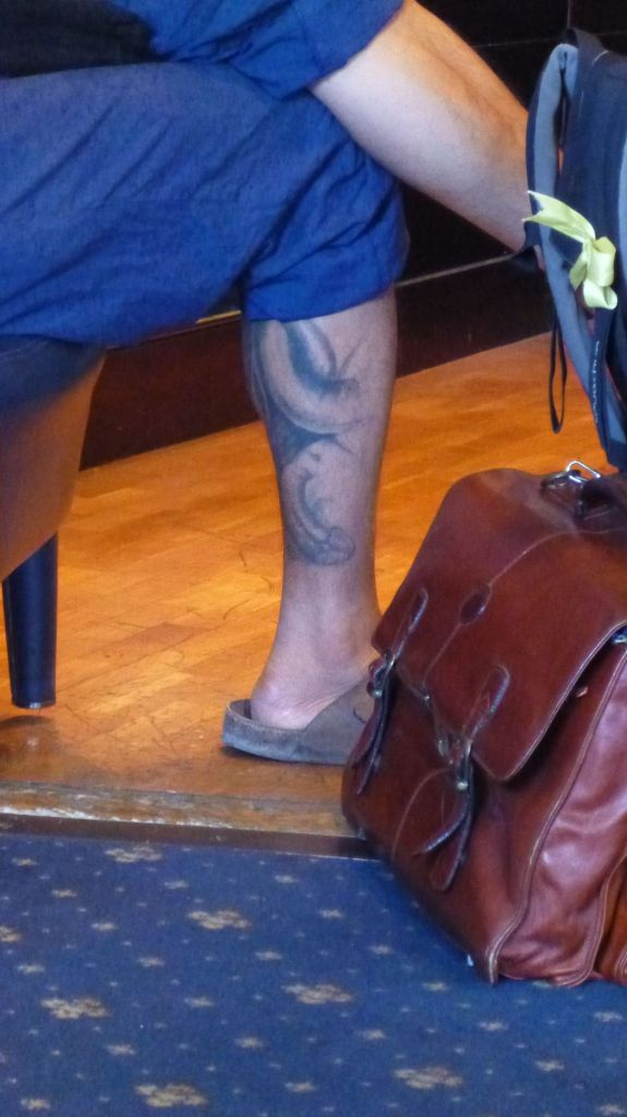 Le drôle de tatouage d'un passager