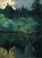 Clearing-After-Rain,-Maganatawan-River,-Ontario,-1910