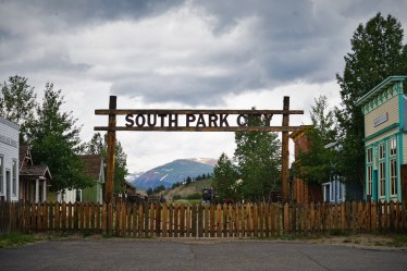 South Park City entrance sign Fairplay CO
