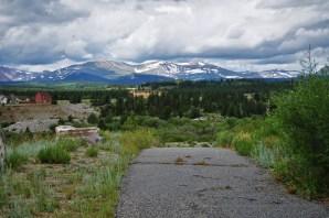 mining area in mountain town