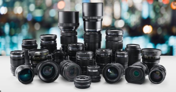GROUP OF MANY CAMERA LENSES