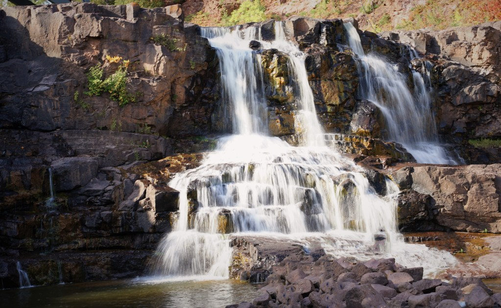Middle Falls at Gooseberry Falls State Park MN