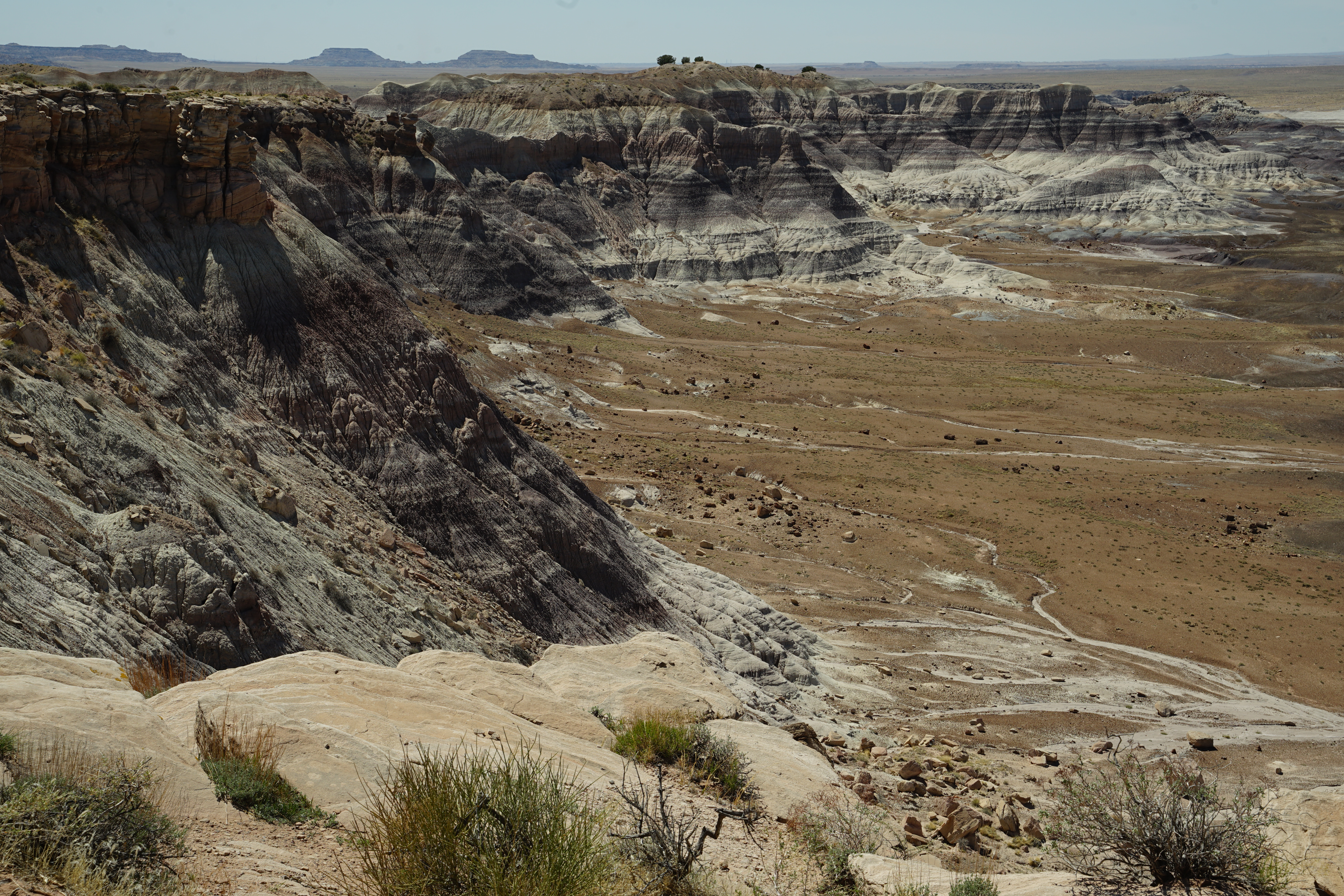 Petrified Forest Sandy mountains