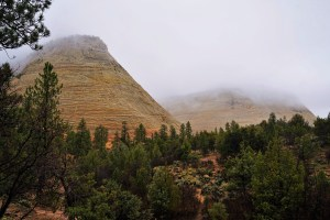 Zion National Park Mesas in the Mist