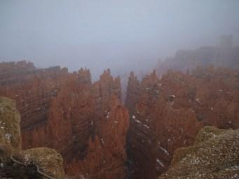 Hoodoos in the mist