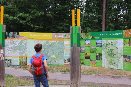 10/10 voor de heldere markering van de wandelroutes! Je kan een route volgen of de knooppunten noteren en zo een wandeling uitstippelen. Deze infoborden staan vlakbij de parking. Tip er is ook een toilet aan het bosmuseum, dus net aan de start van de wandelingen.