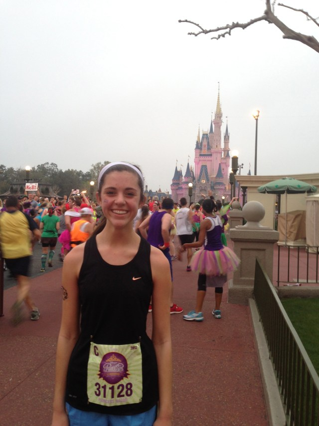 Entering Magic Kingdom Disney Princess Half Marathon Race Day