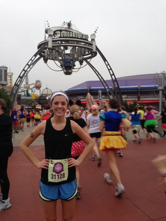 Heading into Tomorrowland at Disney Princess Half Marathon