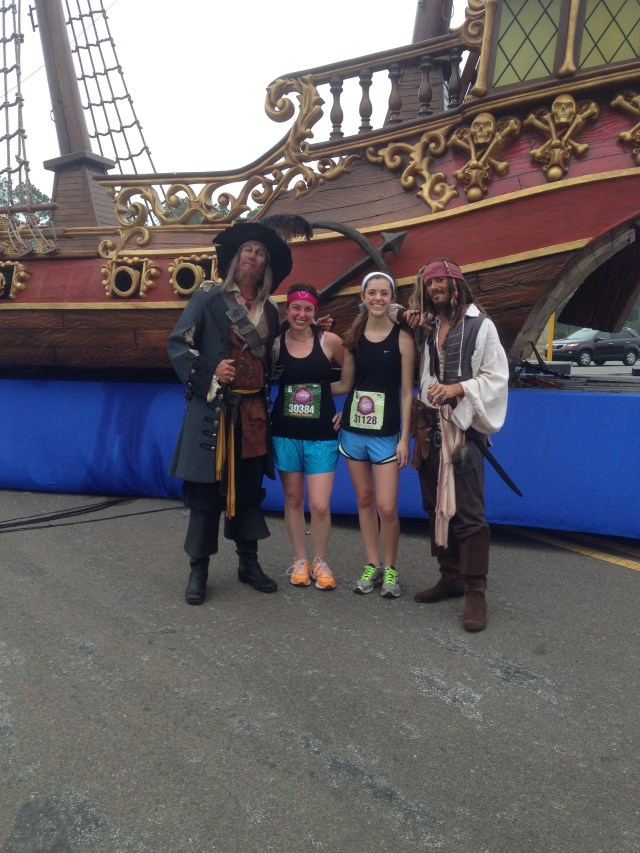 Barbosa and Captain Jack Sparrow at Disney Princess Half Marathon