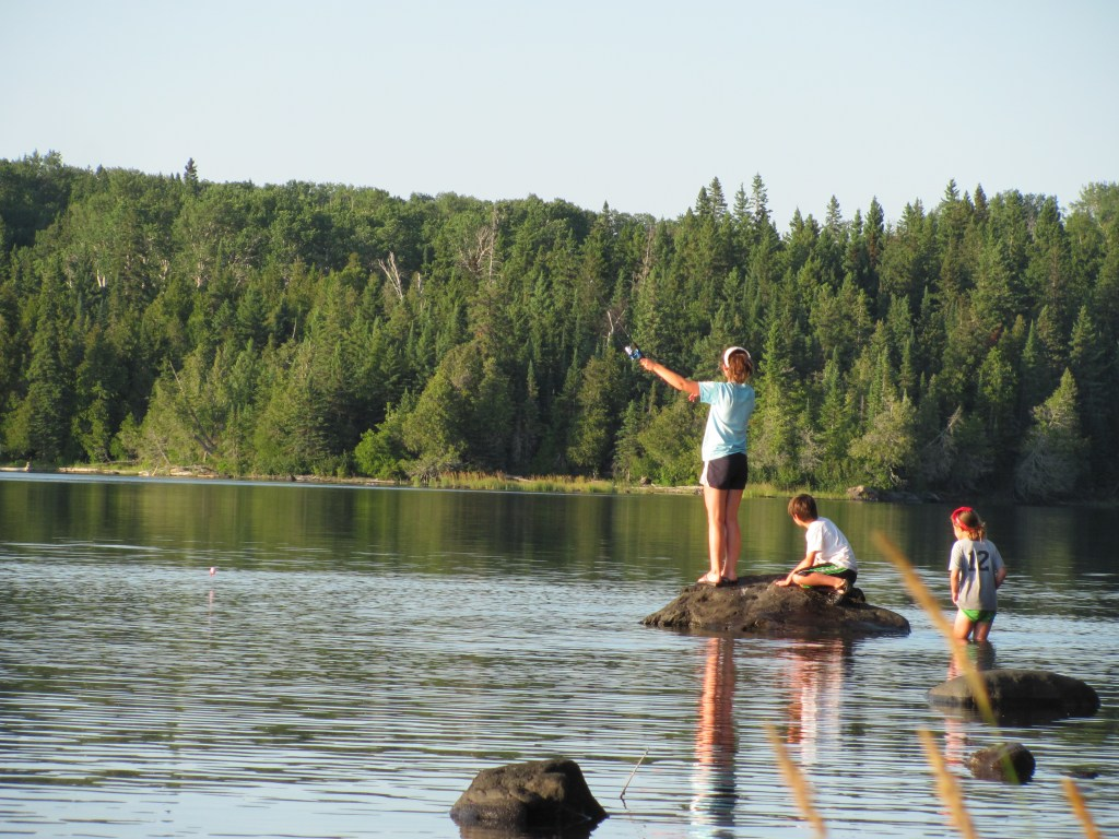 Fishing in Lane Cove at Isle Royale National Park
