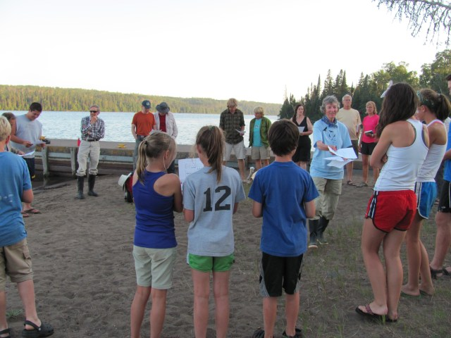 Singing with Candy Peterson at Daisy Farm in Isle Royale National Park