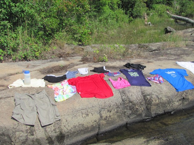 Laundry the Isle Royale Way