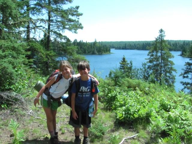Maya and Garrett on the Indian Portage Trail